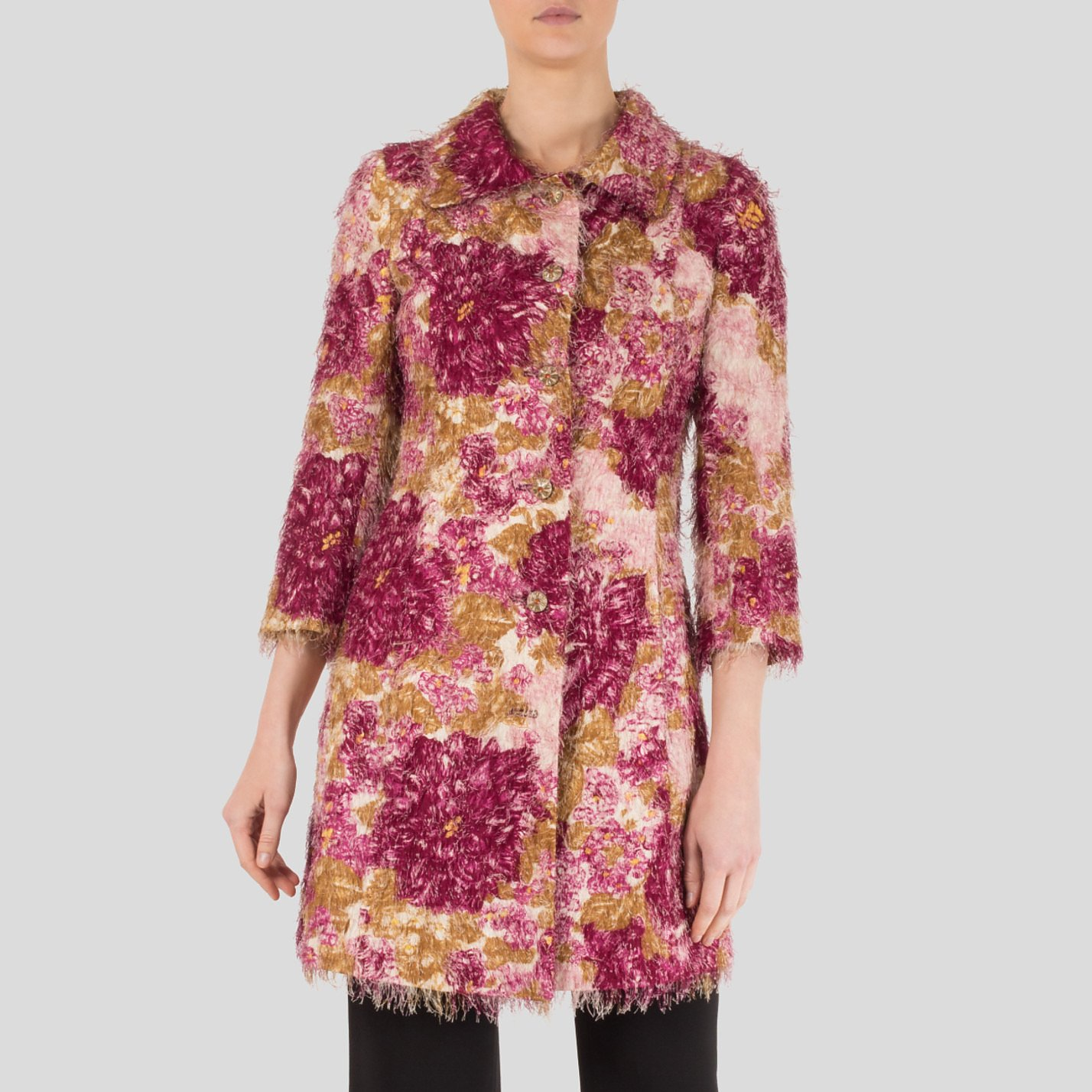 DOLCE & GABBANA Floral Patterned Long Jacket