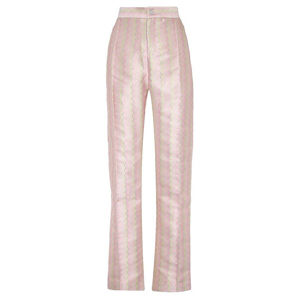 Lisou Hetty Metallic Pastel Zig Zag Jacquard Trousers