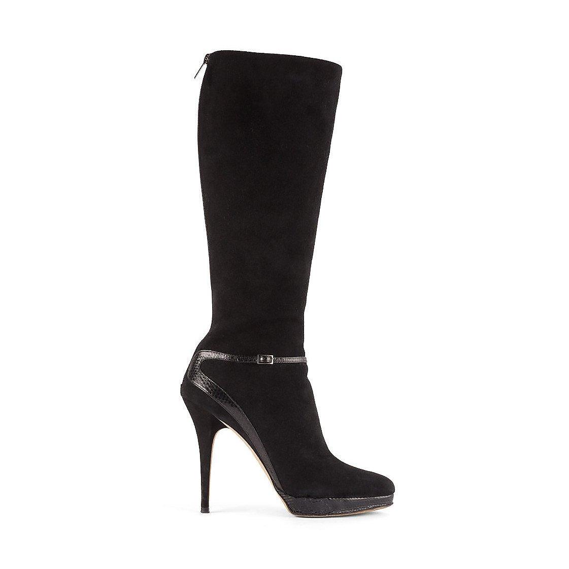 Jimmy Choo Suede Stiletto-Heel Platform Boots