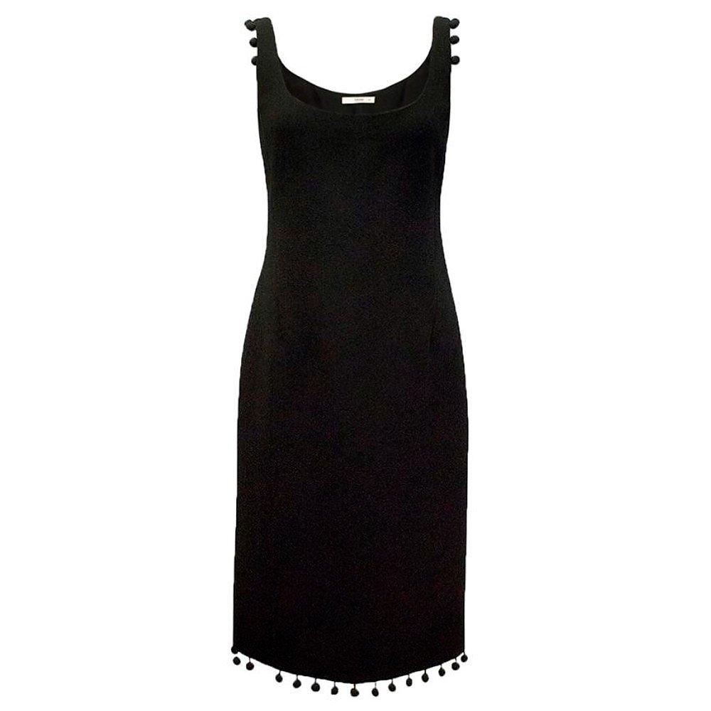 PRADA Vintage Pom Pom-Trim Dress
