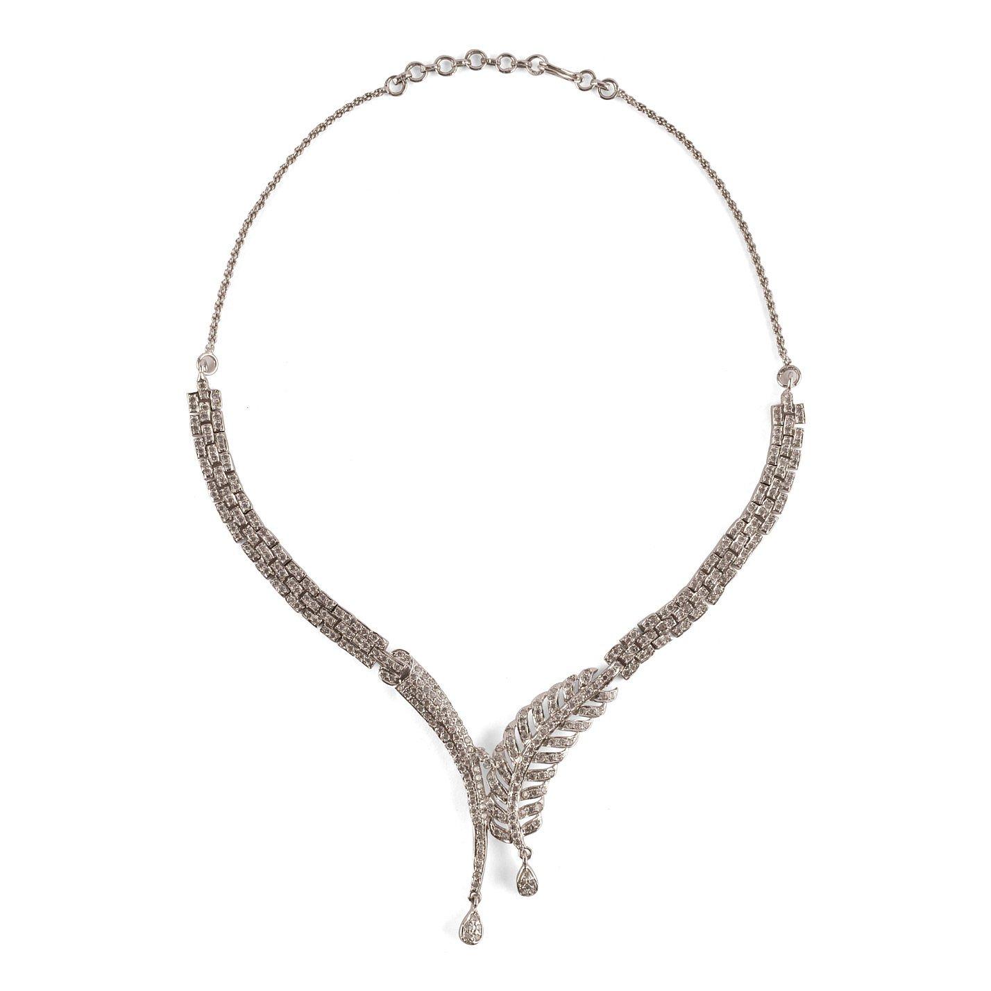 Vintage Bespoke Diamante Evening Necklace