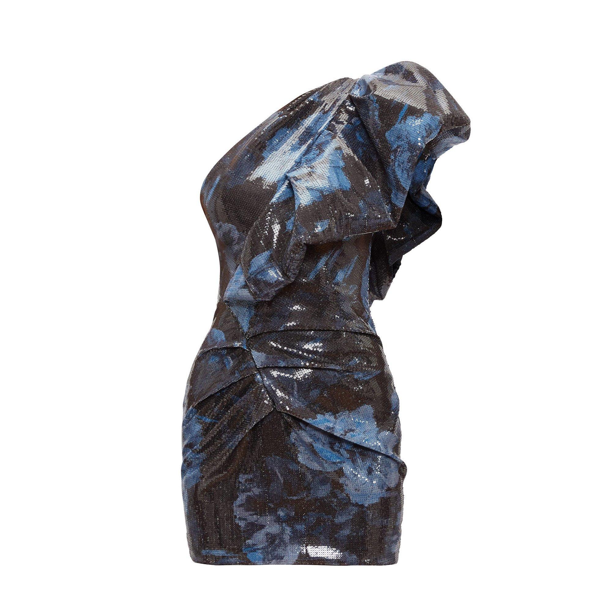 Alexandre Vauthier One Shoulder Sequin Mini Dress
