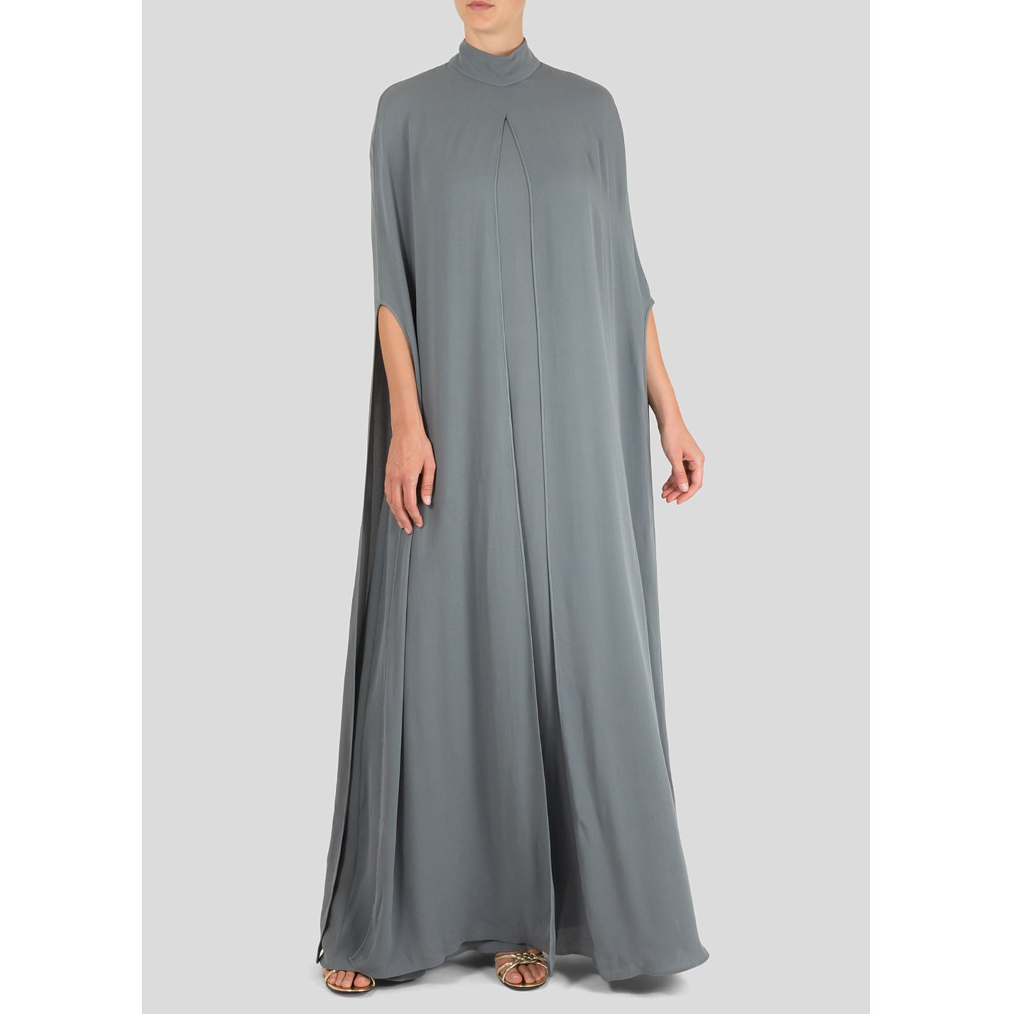 Valentino Cape-Style Silk Gown