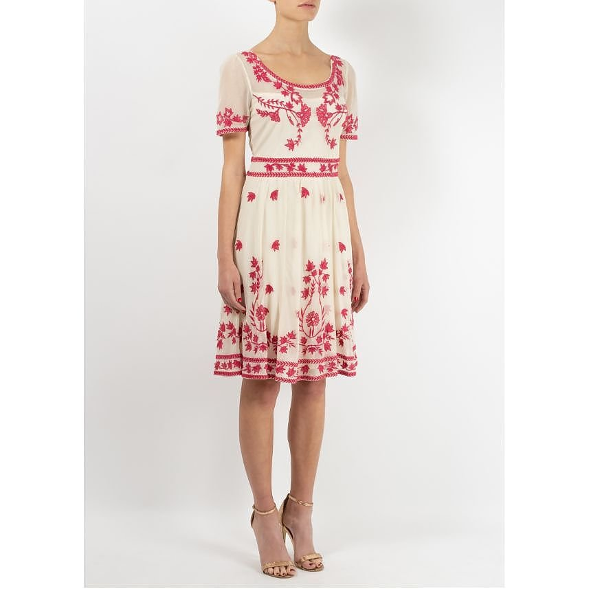 Temperley London Embroidered Scoop Neck Dress