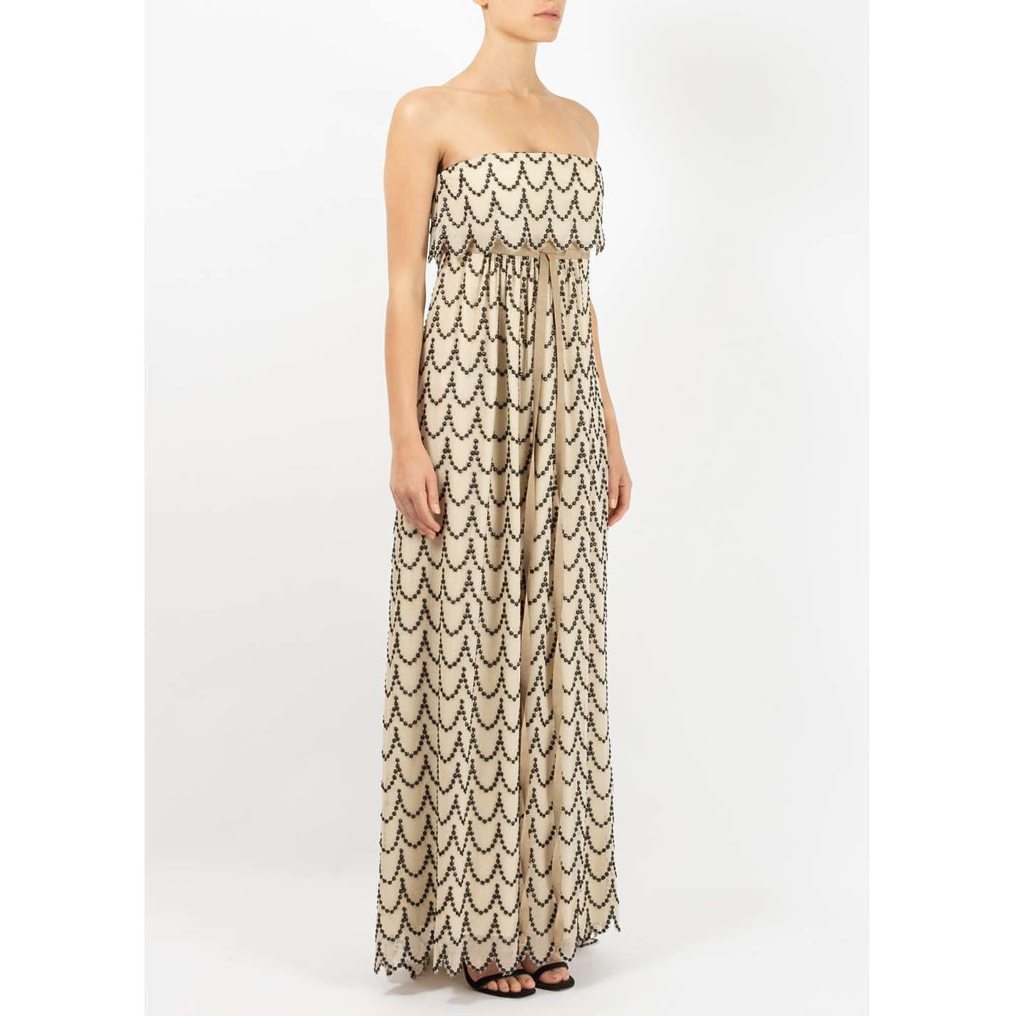 Britt Sisseck Embroidered Strapless Dress