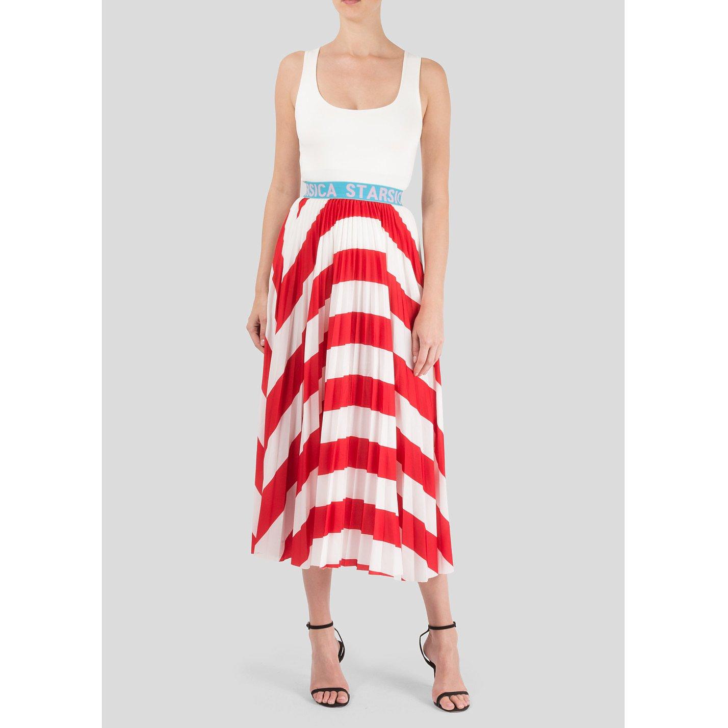 Starsica Striped Midi Skirt