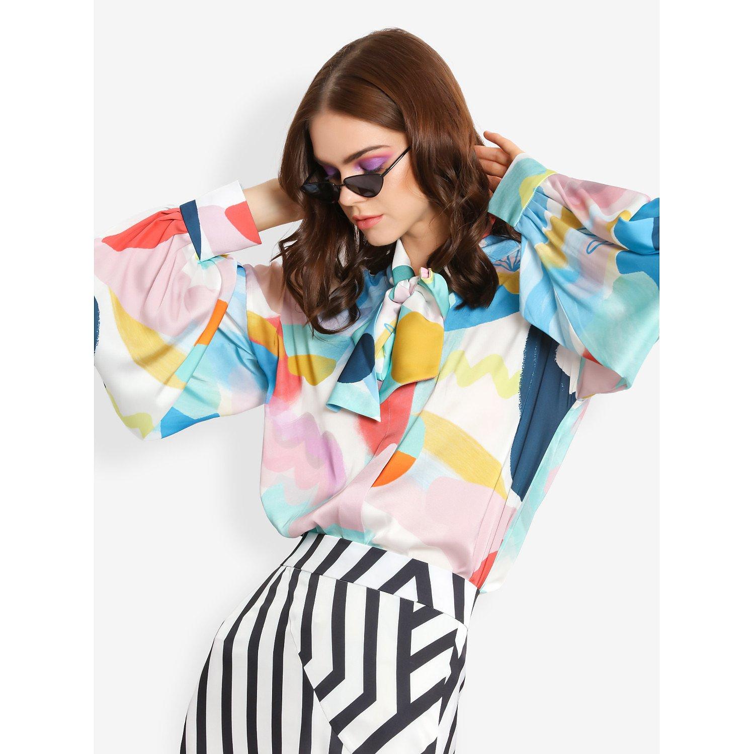 L'Mane Colourful Bow Shirt