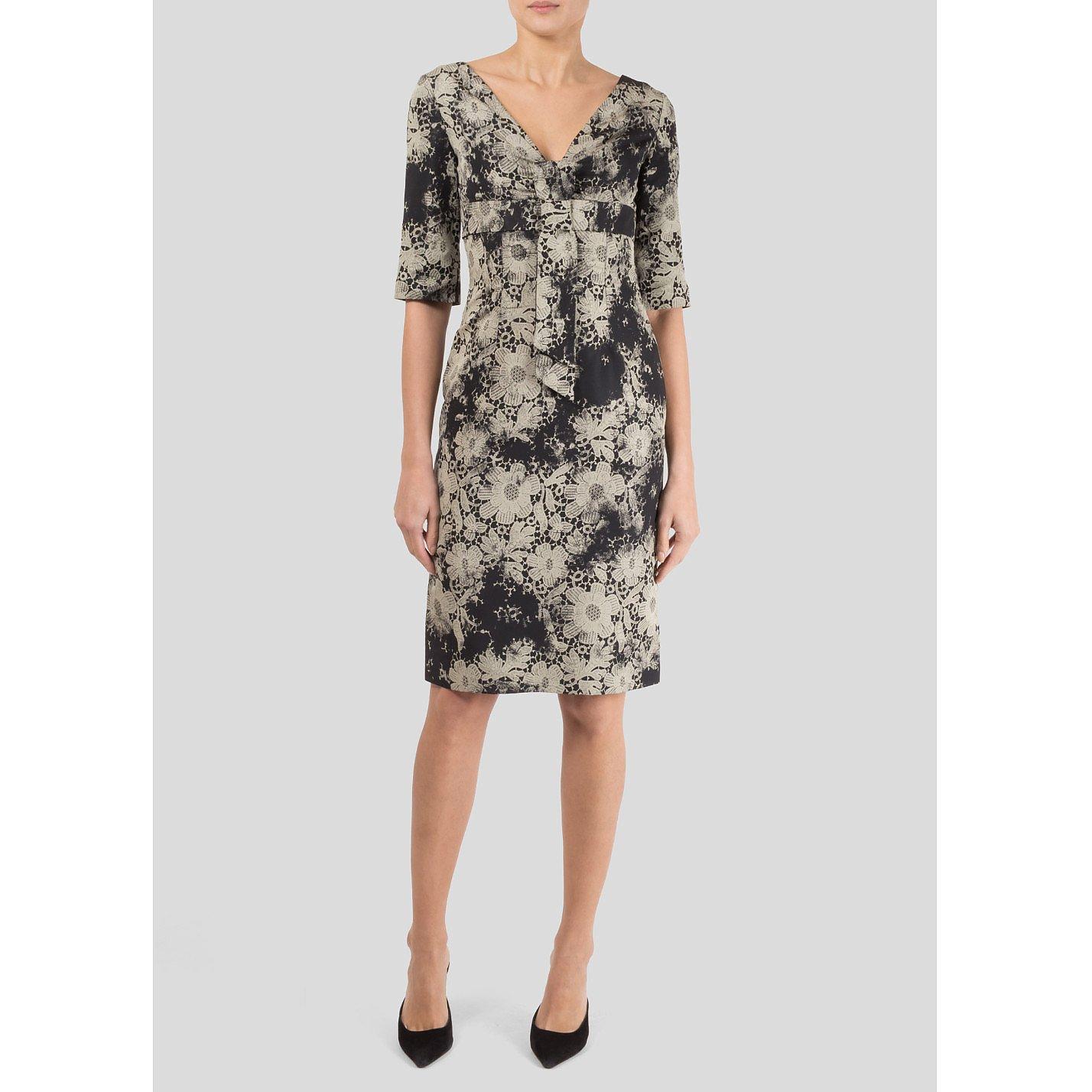 Alexander McQueen Floral Lace-Print Dress