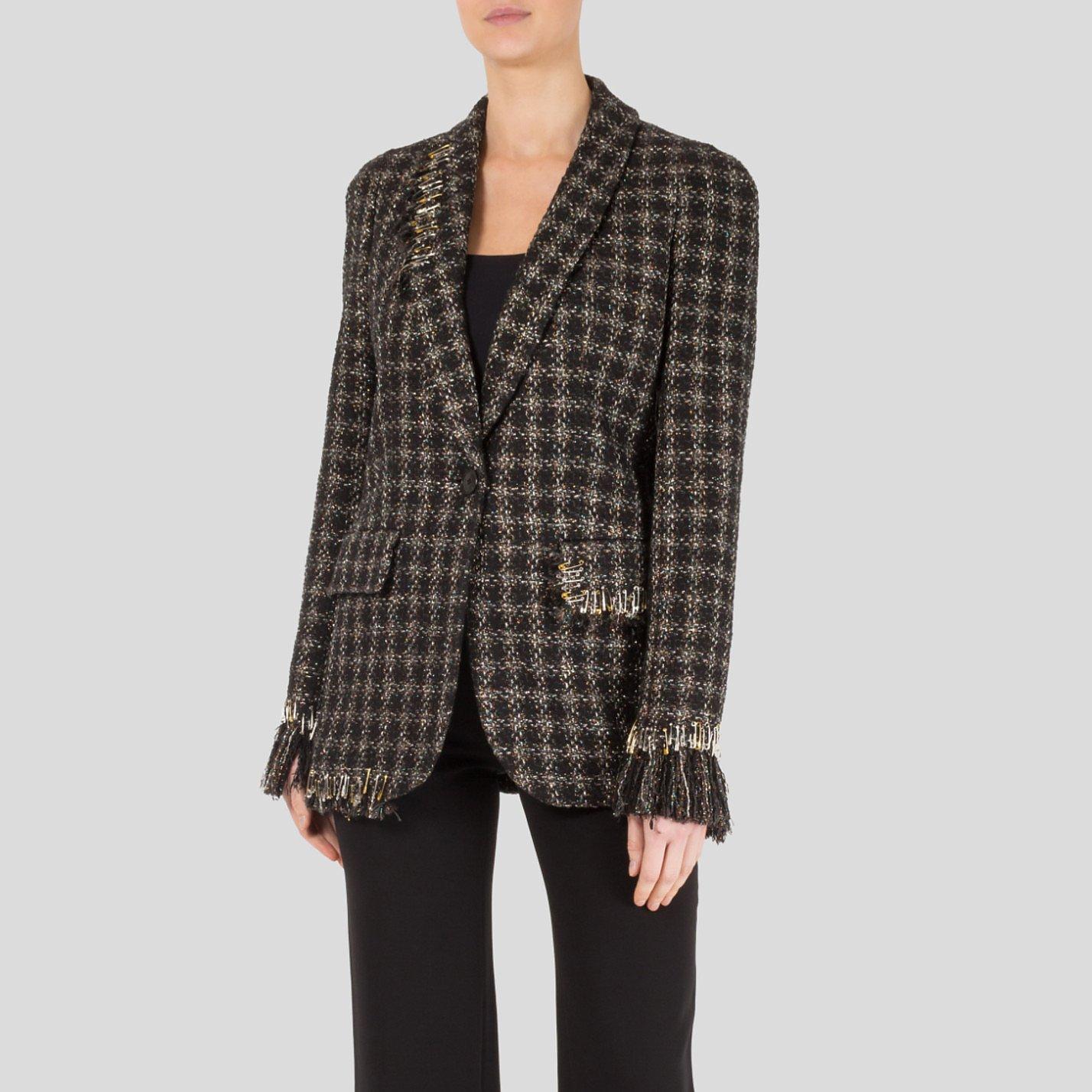Sonia Rykiel Tweed Jacket With Safety Pin Embellishment