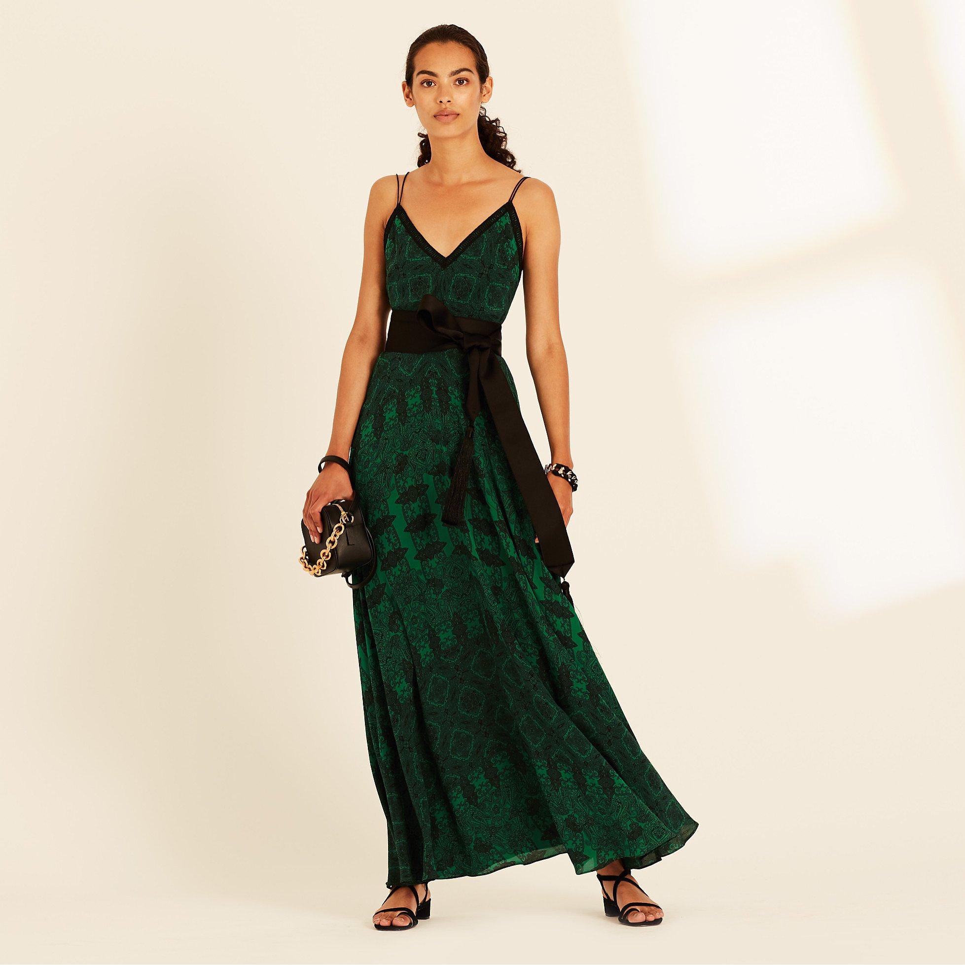Amanda Wakeley Paisley Maxi Slip Dress