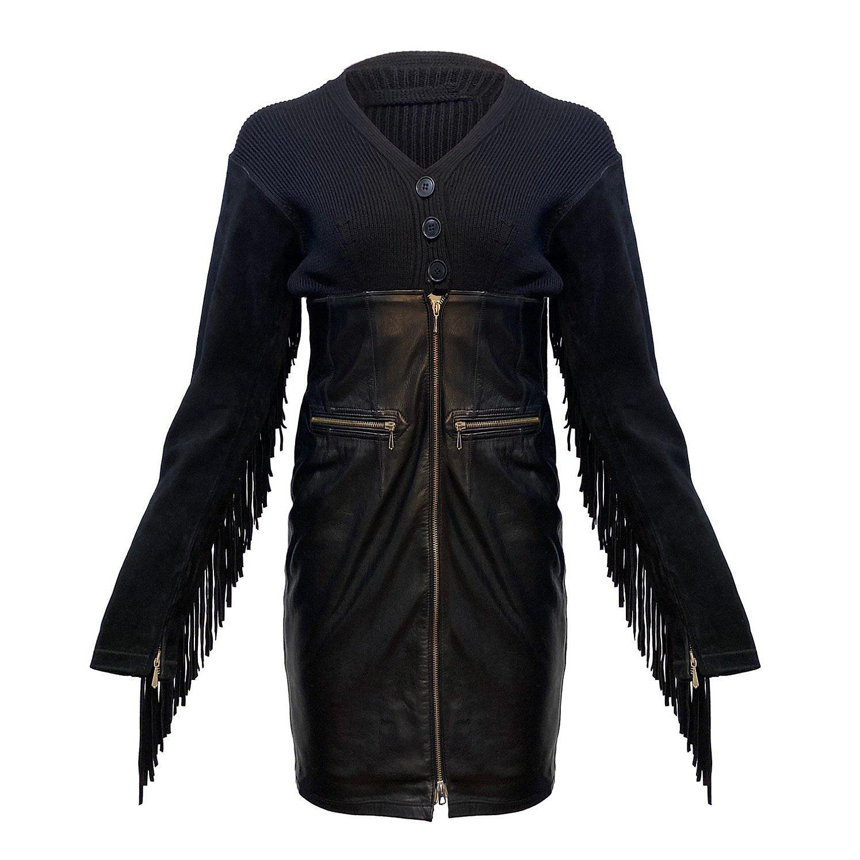 Jean Paul Gaultier Leather Tassel Dress