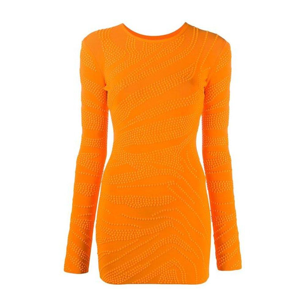David Koma Stud-Embellished Fitted Dress