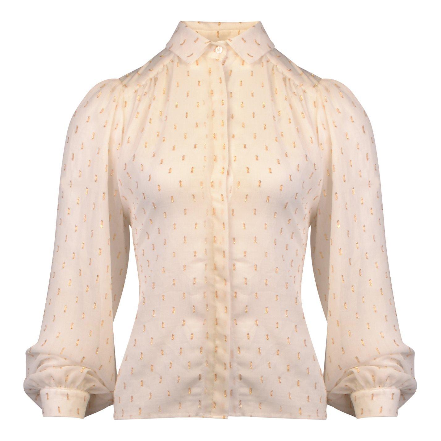 Lisou Eliza Chiffon Dash Print Shirt