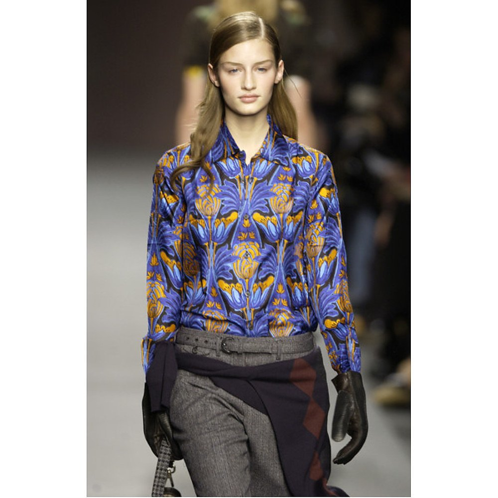 PRADA Printed Floral Silk Shirt