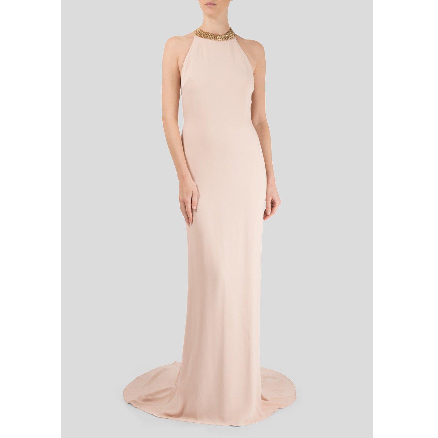 Stella McCartney Chain-Embellished Halterneck Gown