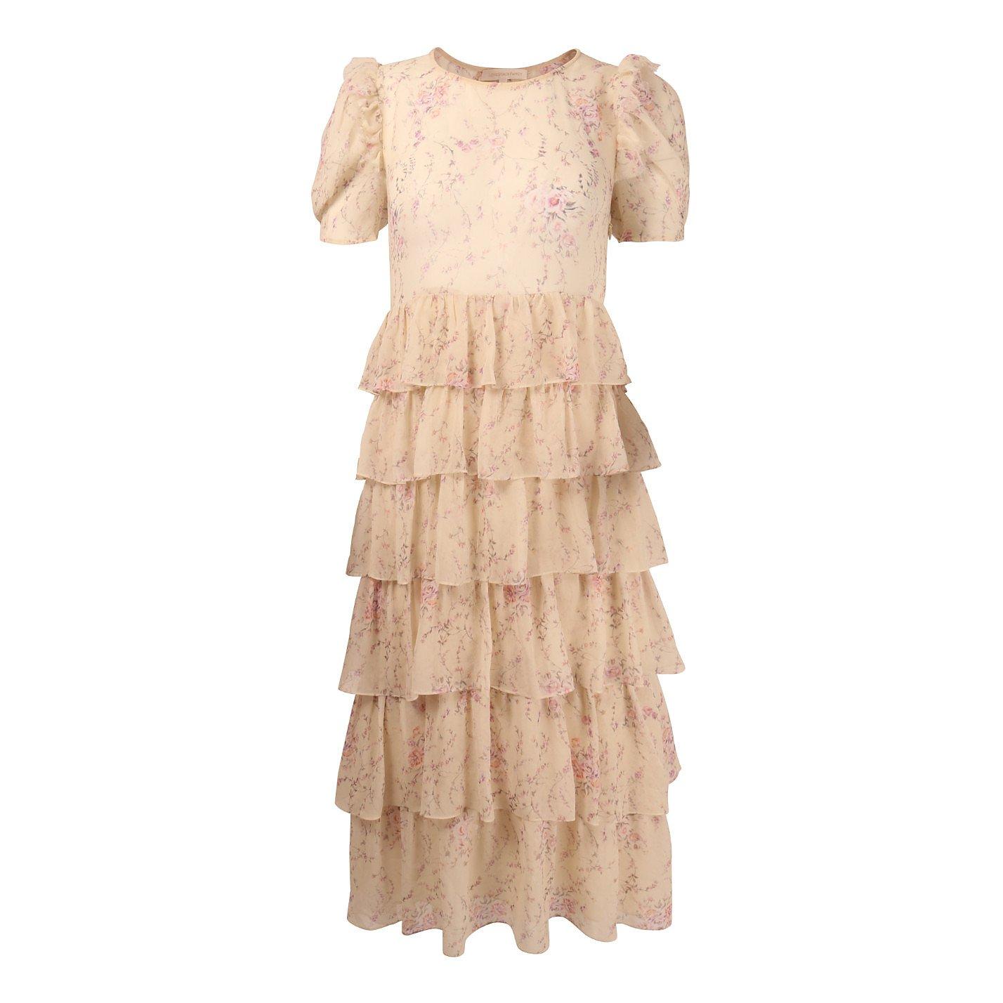 Love Shack Fancy Ruffled Silk Midi Dress
