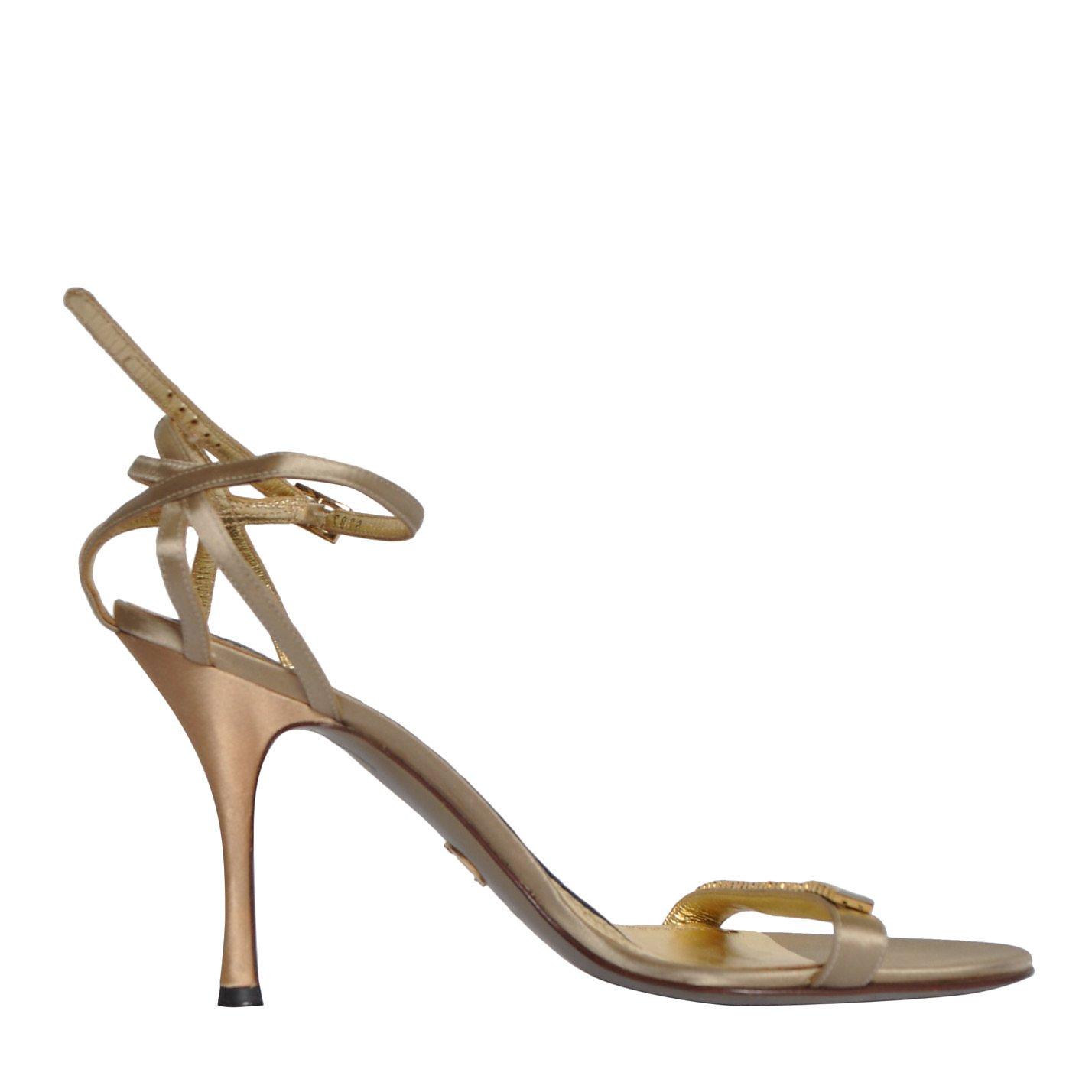 DOLCE & GABBANA Metallic Embellished Sandals