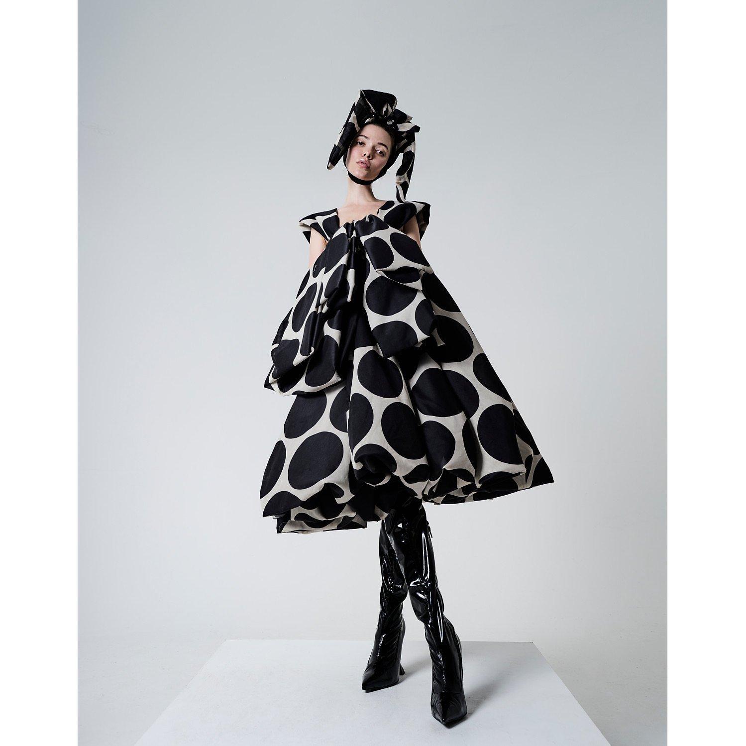 House Of Sheldonhall Oversized Spotty Dress