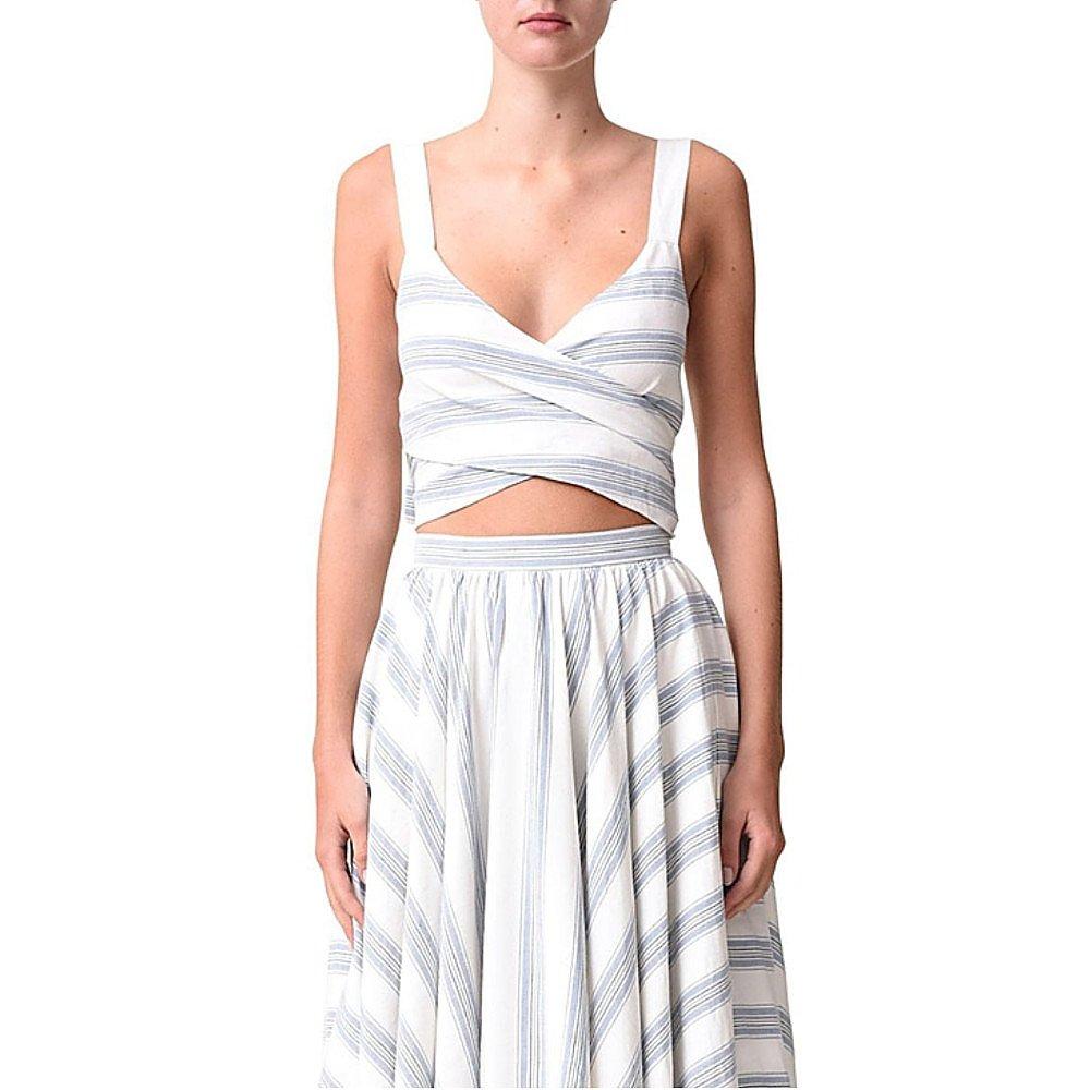 Noon By Noor Mika Silk Linen Striped Top