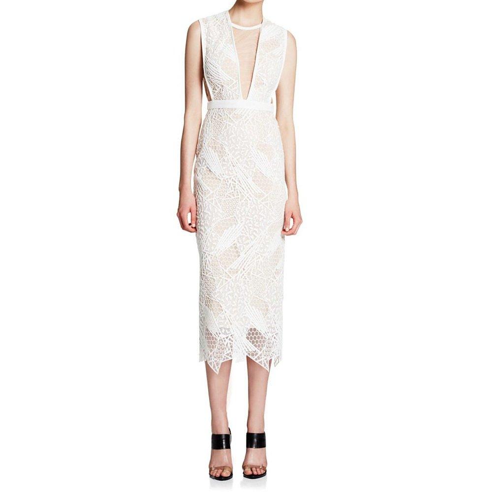 Manning Cartell Lace Sheath Midi Dress