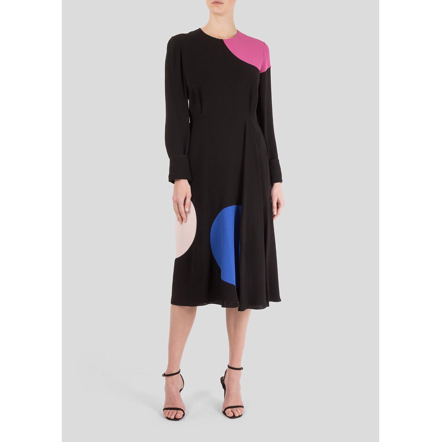 Roksanda Long Sleeve Dot Patterned Dress