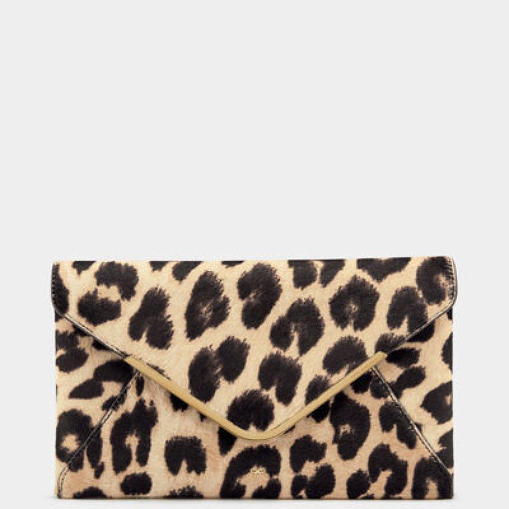 Anya Hindmarch Leopard Print Postbox Clutch