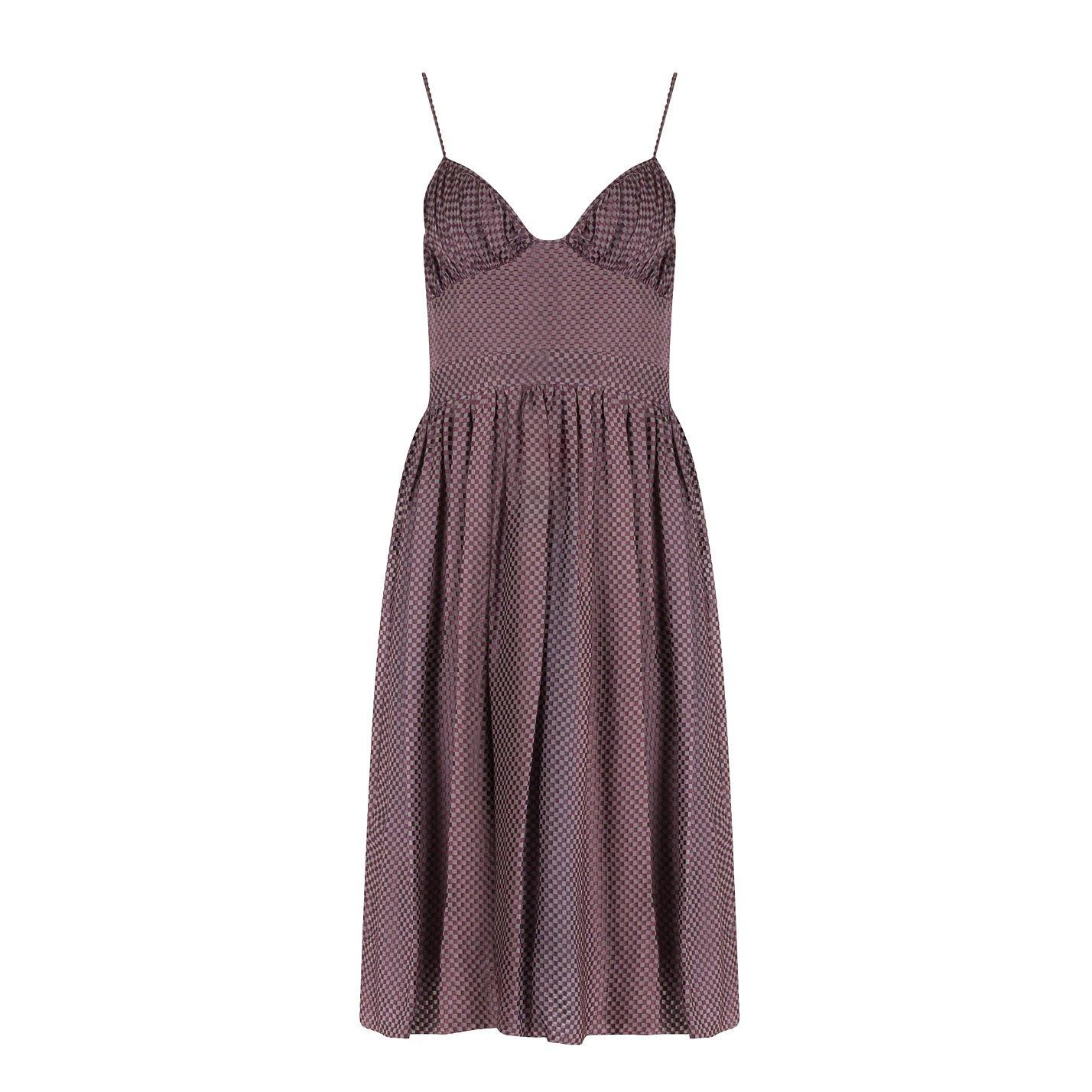 CAMILLA AND MARC Velvet Check Dress