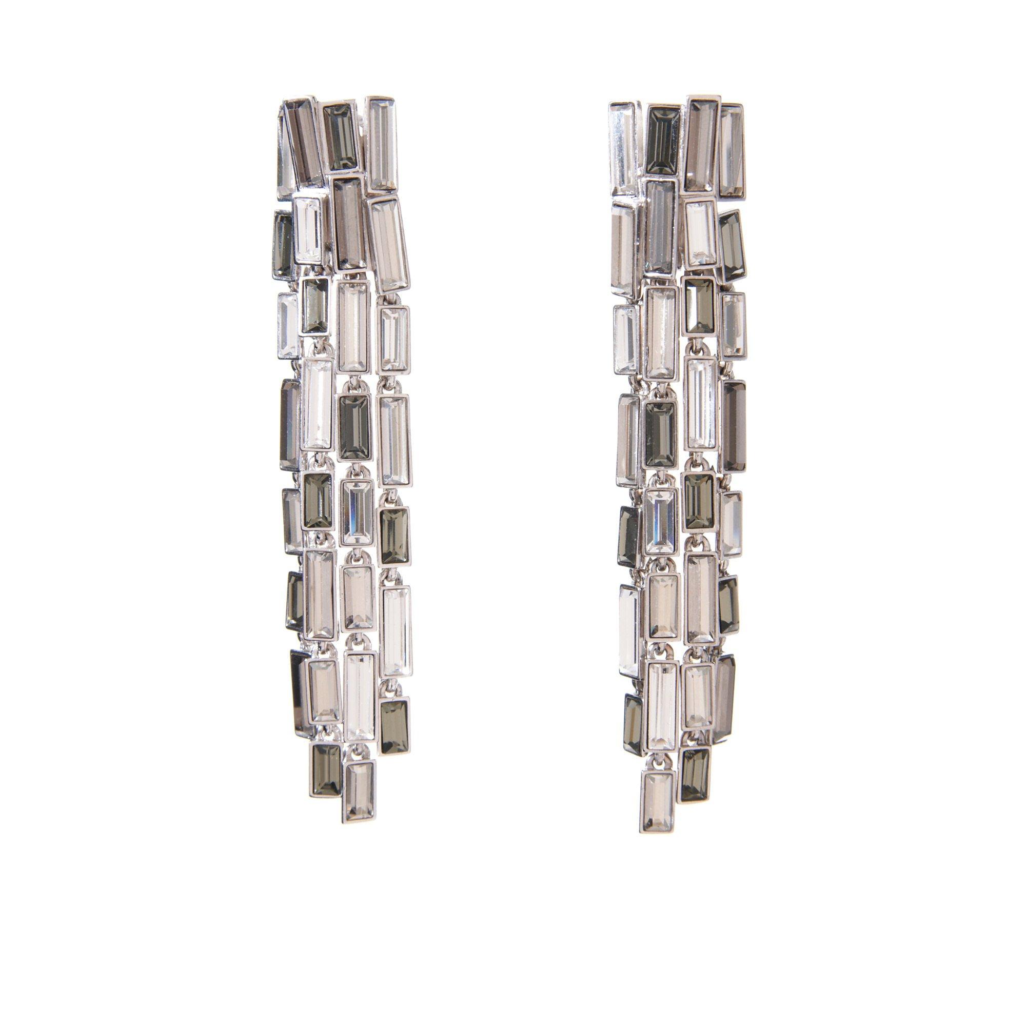 Simon Harrison Caddis Multi Baguette Long Earring