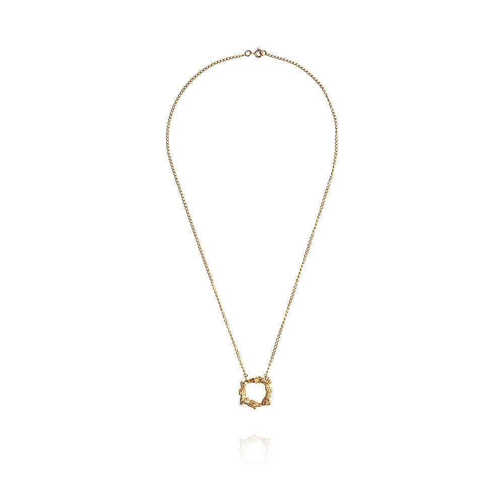 Ros Millar Frame Necklace in Gold