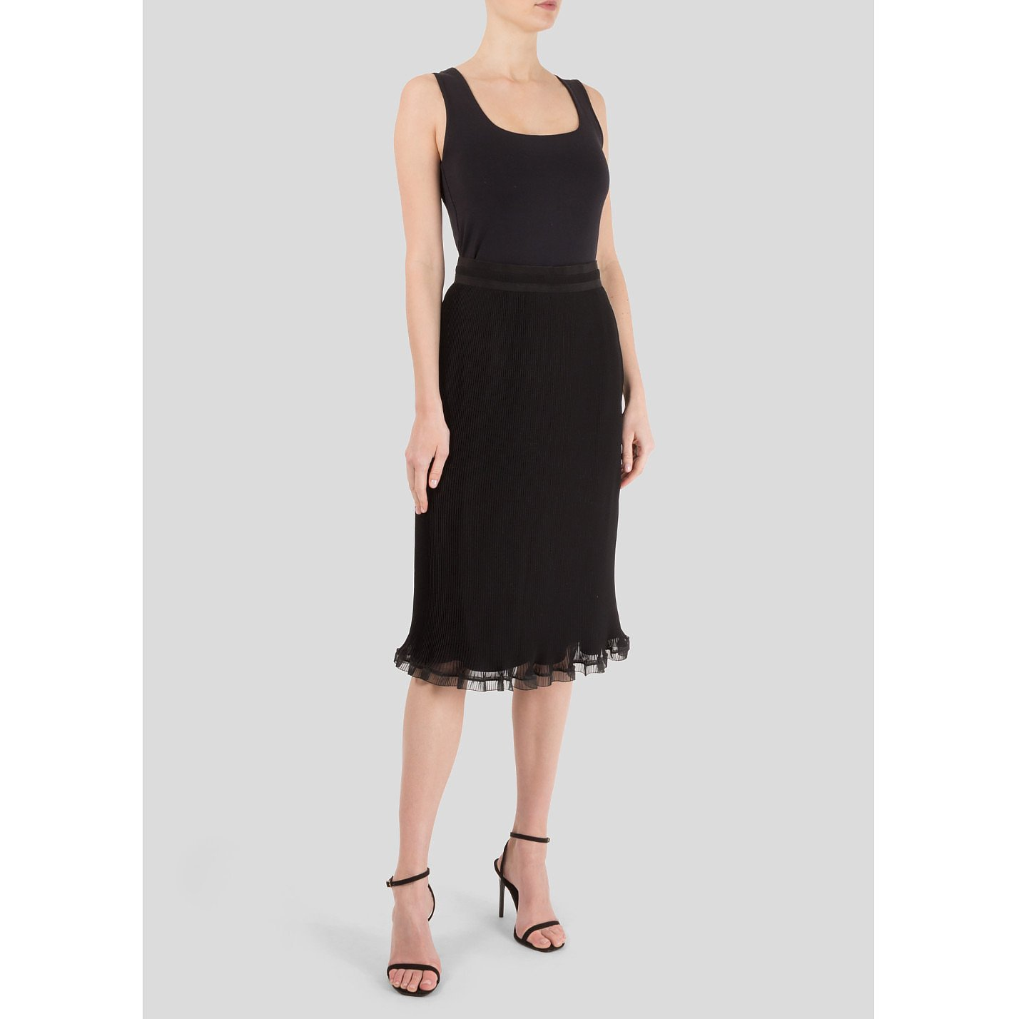 Carven Micro-Pleat Skirt