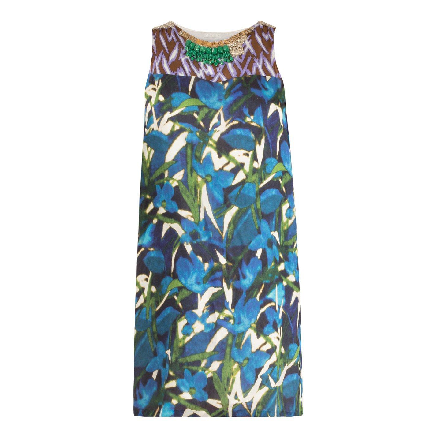 DRIES VAN NOTEN Embellished Printed Dress