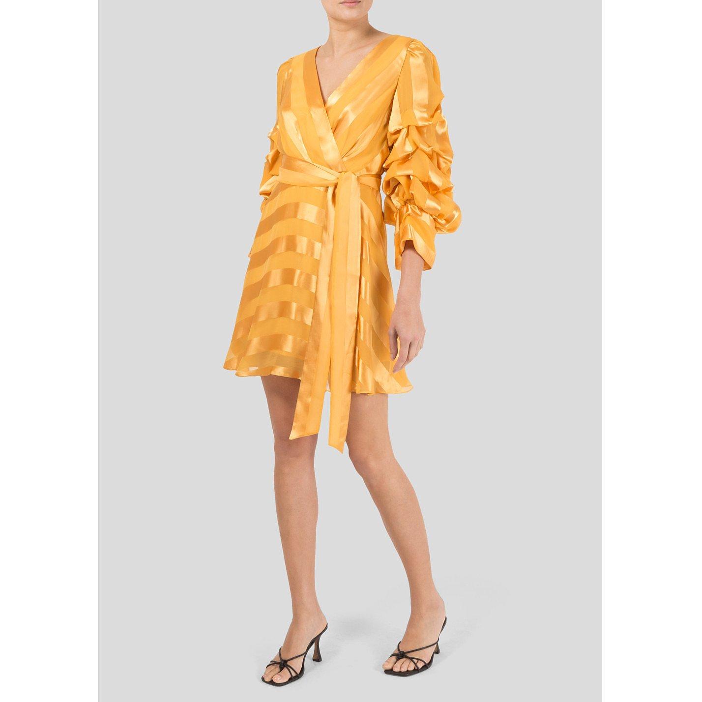 Alice + Olivia Santina Wrap-Effect Jacquard Dress
