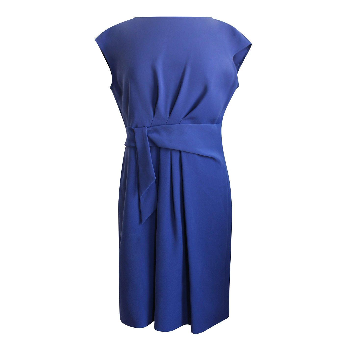 Armani Solid Tie Mini Dress