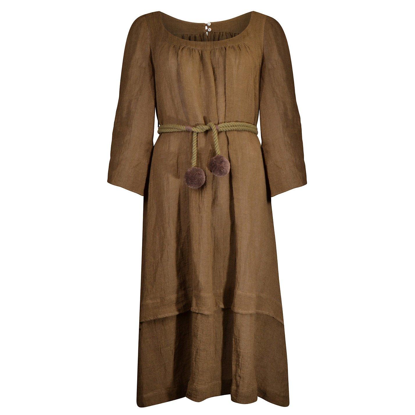 Three Graces Ilara Linen-Blend Dress