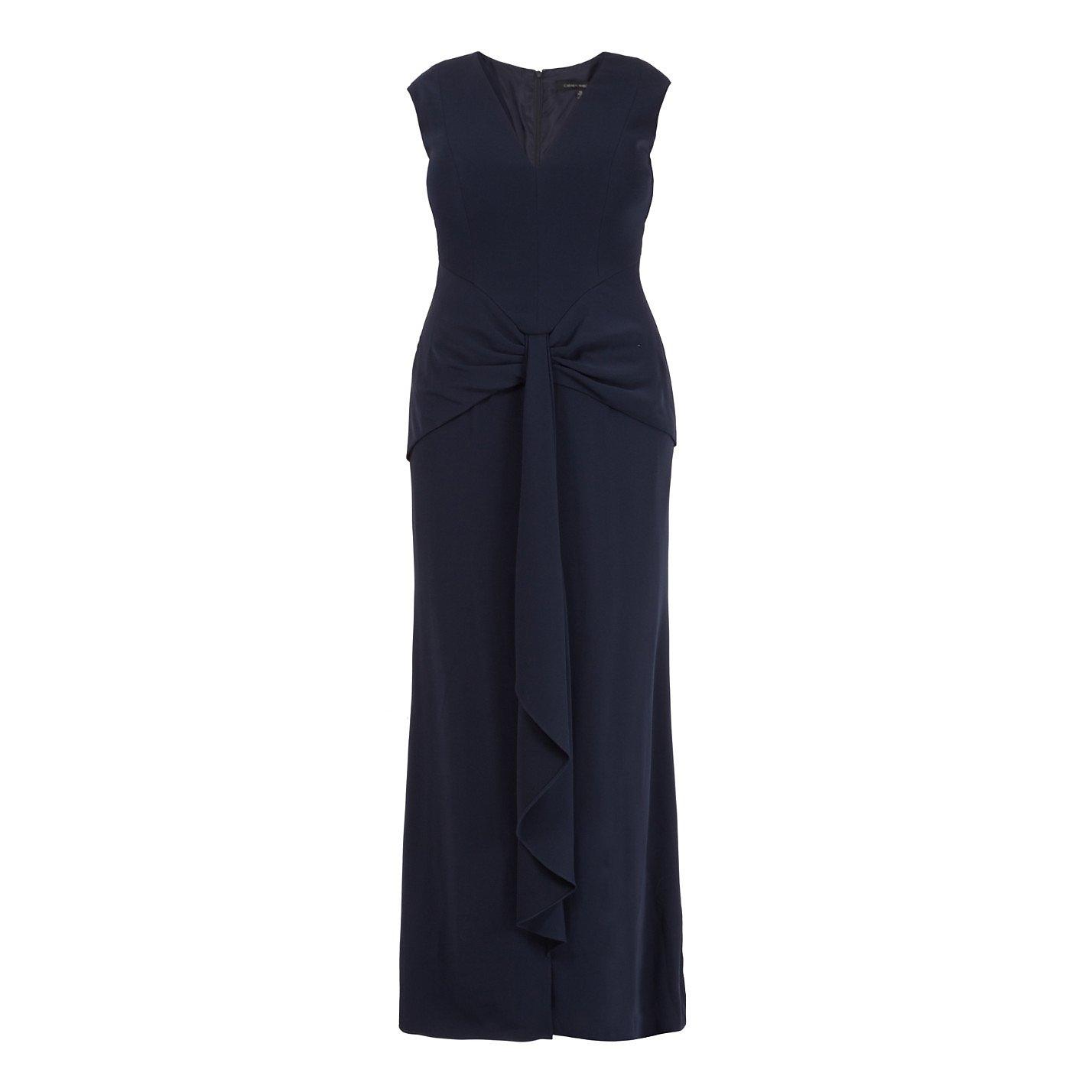 Carmen Marc Valvo Twist Detail Gown