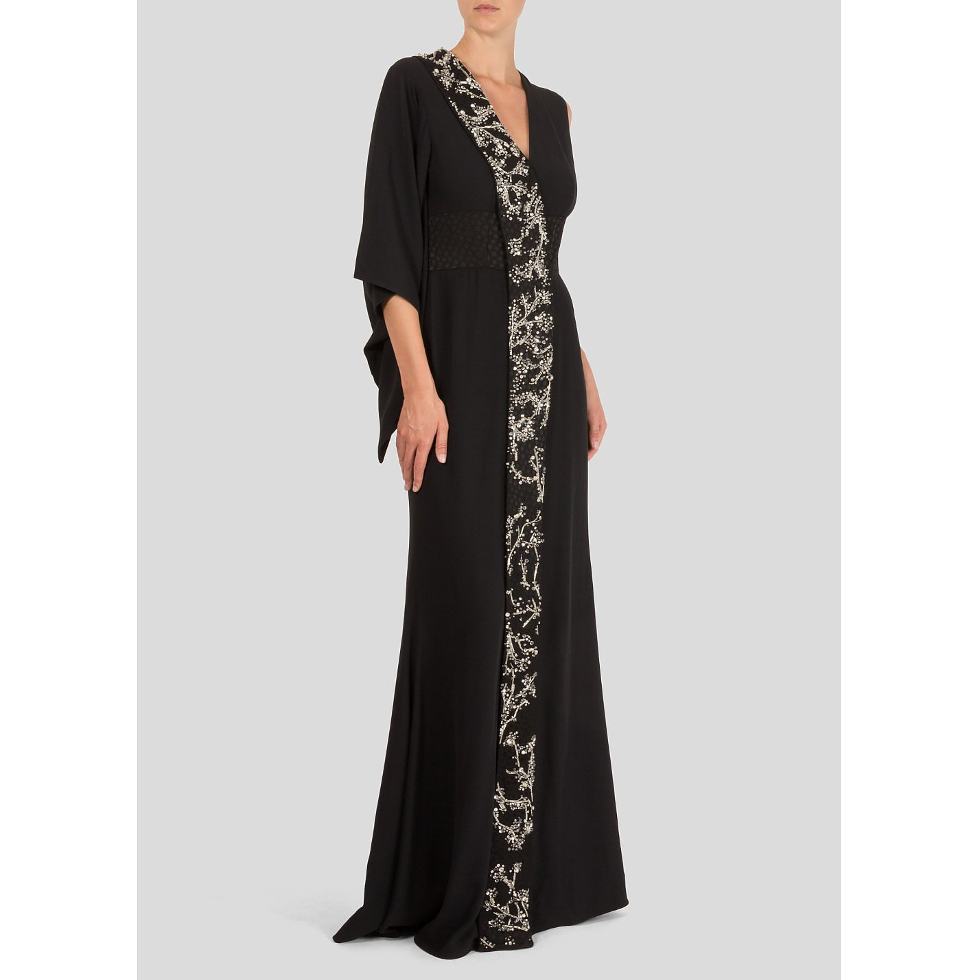 Alexander McQueen Embellished Asymmetrical Gown
