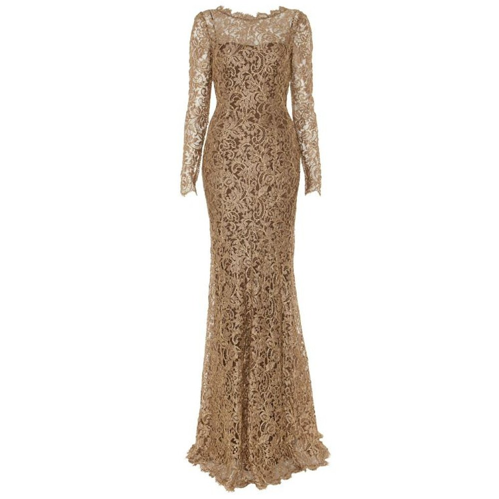 Temperley London Metallic Lace Gown