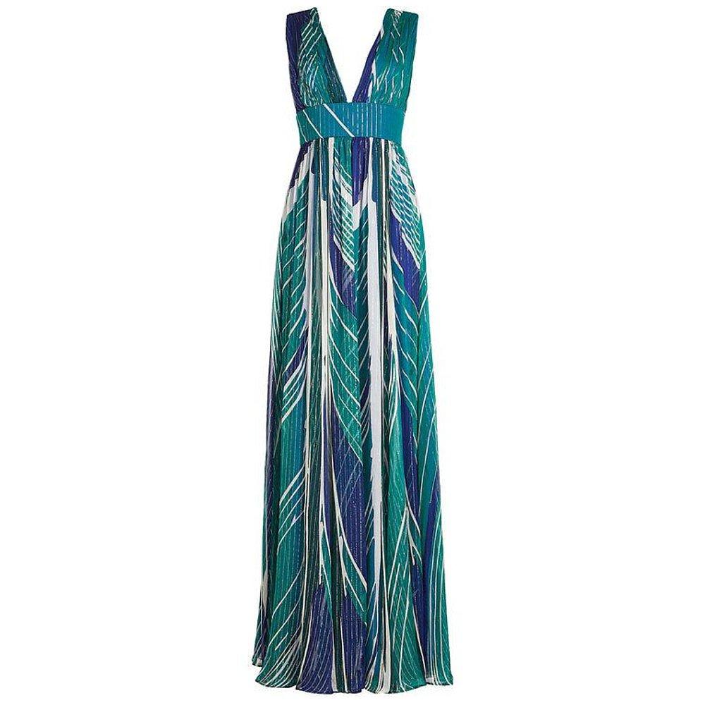 Dhela Sleeveless Printed Silk Maxi Dress