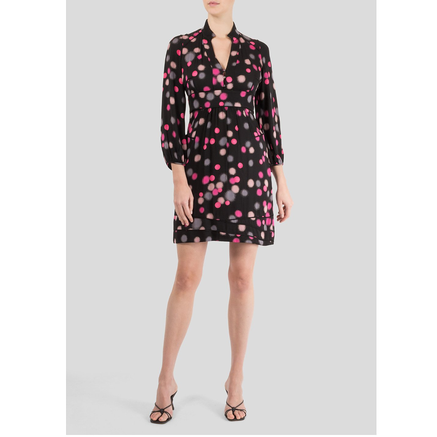 Diane von Furstenberg Polka Dot Print Dress