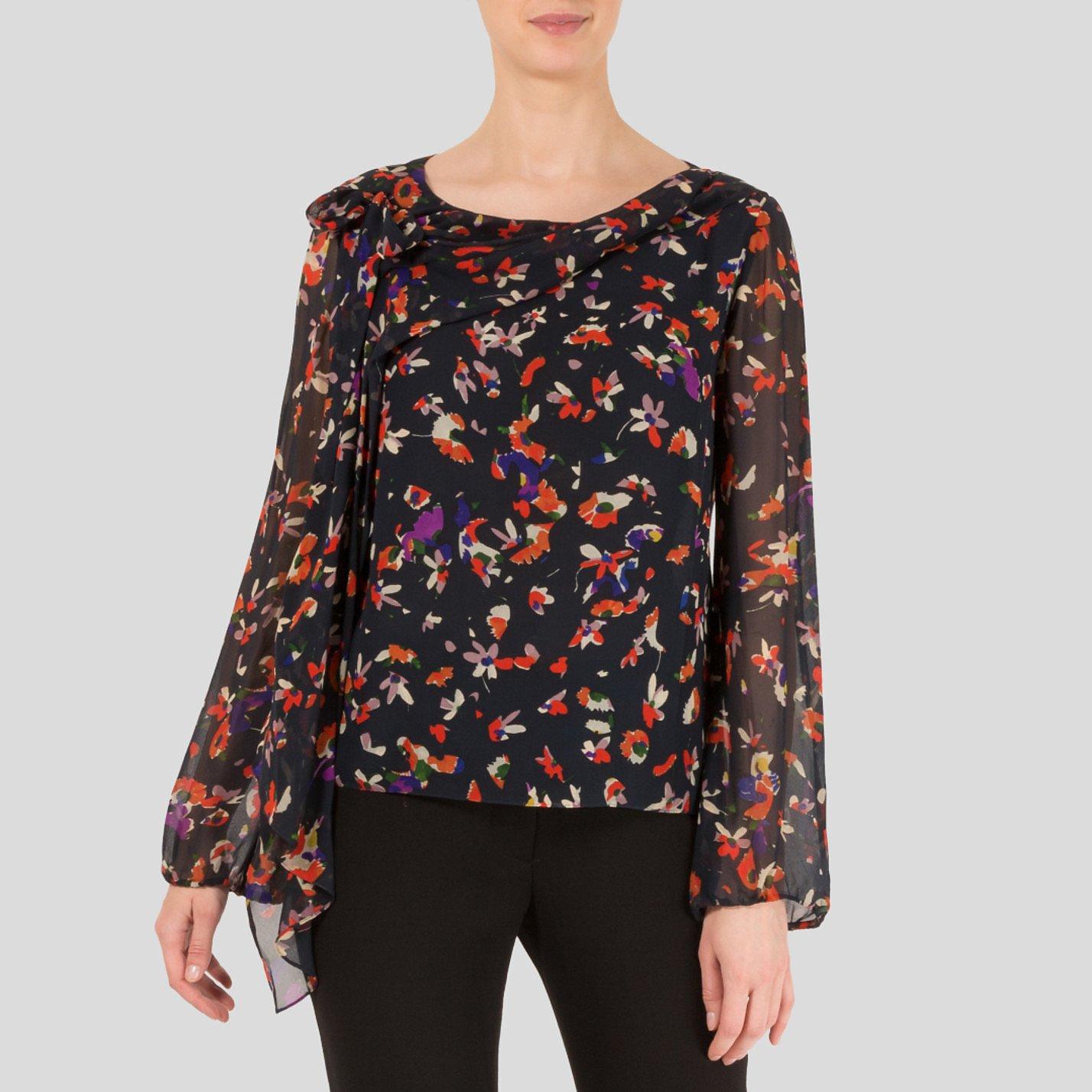 Vanessa Bruno Floral Print Silk Blouse