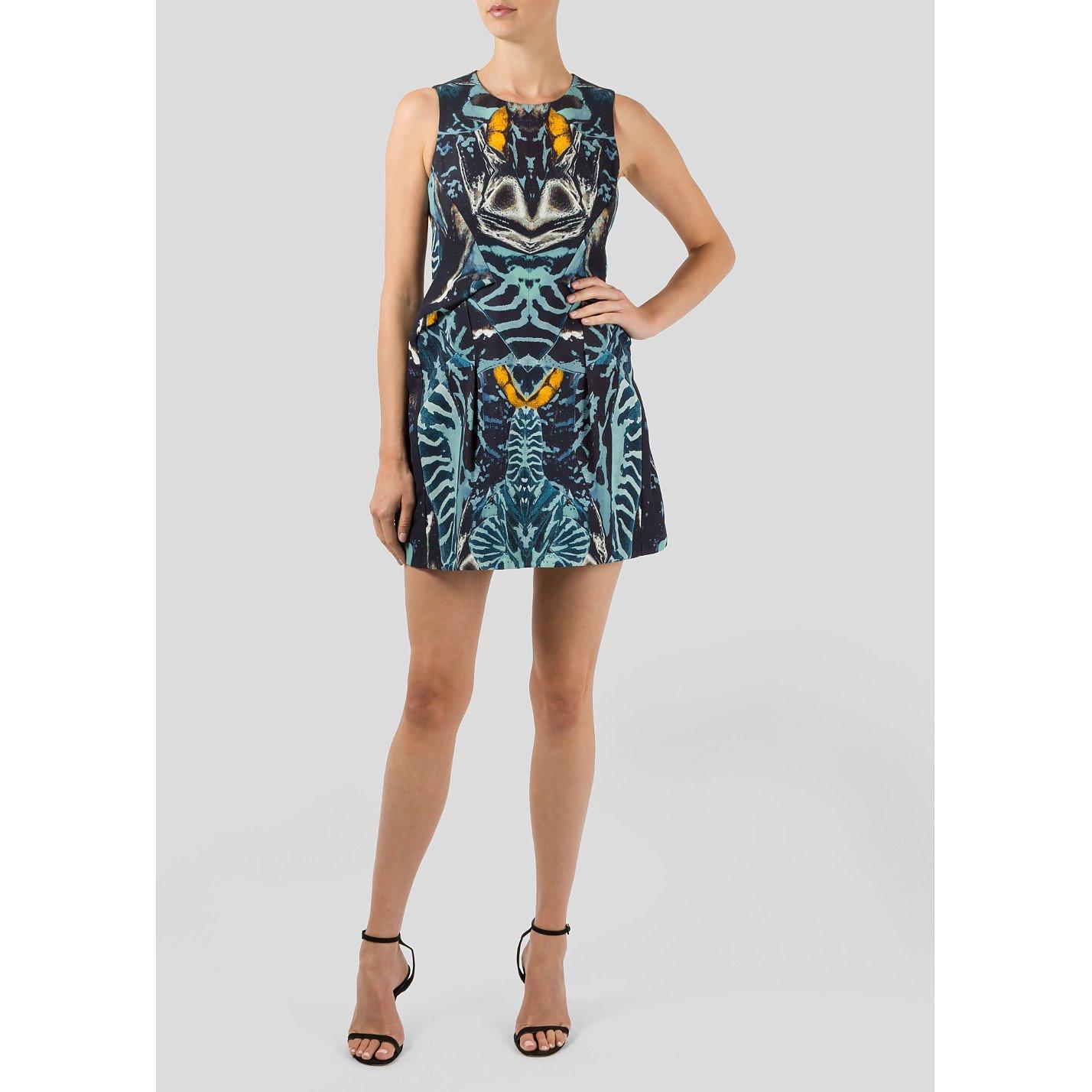 Alexander McQueen Printed Mini Dress