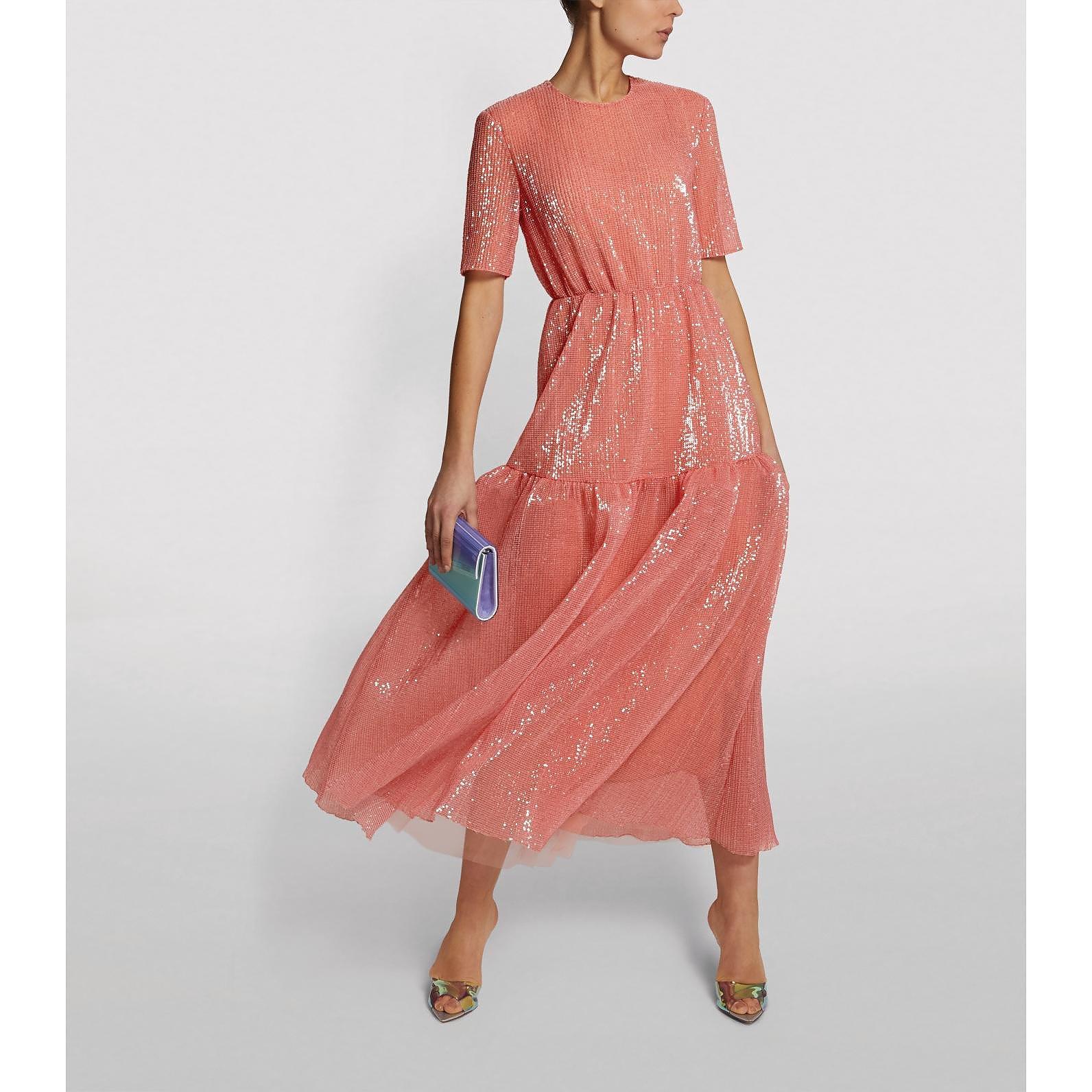 Huishan Zhang Peggy Sequin-Embellished Dress