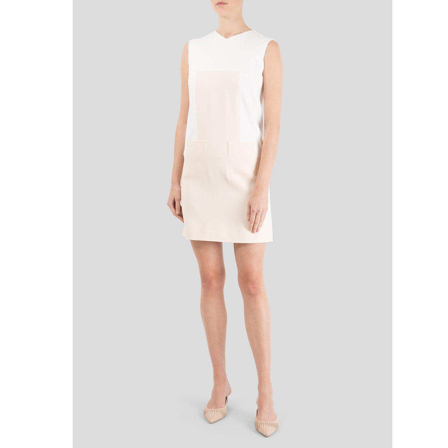 Victoria Beckham High V-Neck Mini Dress