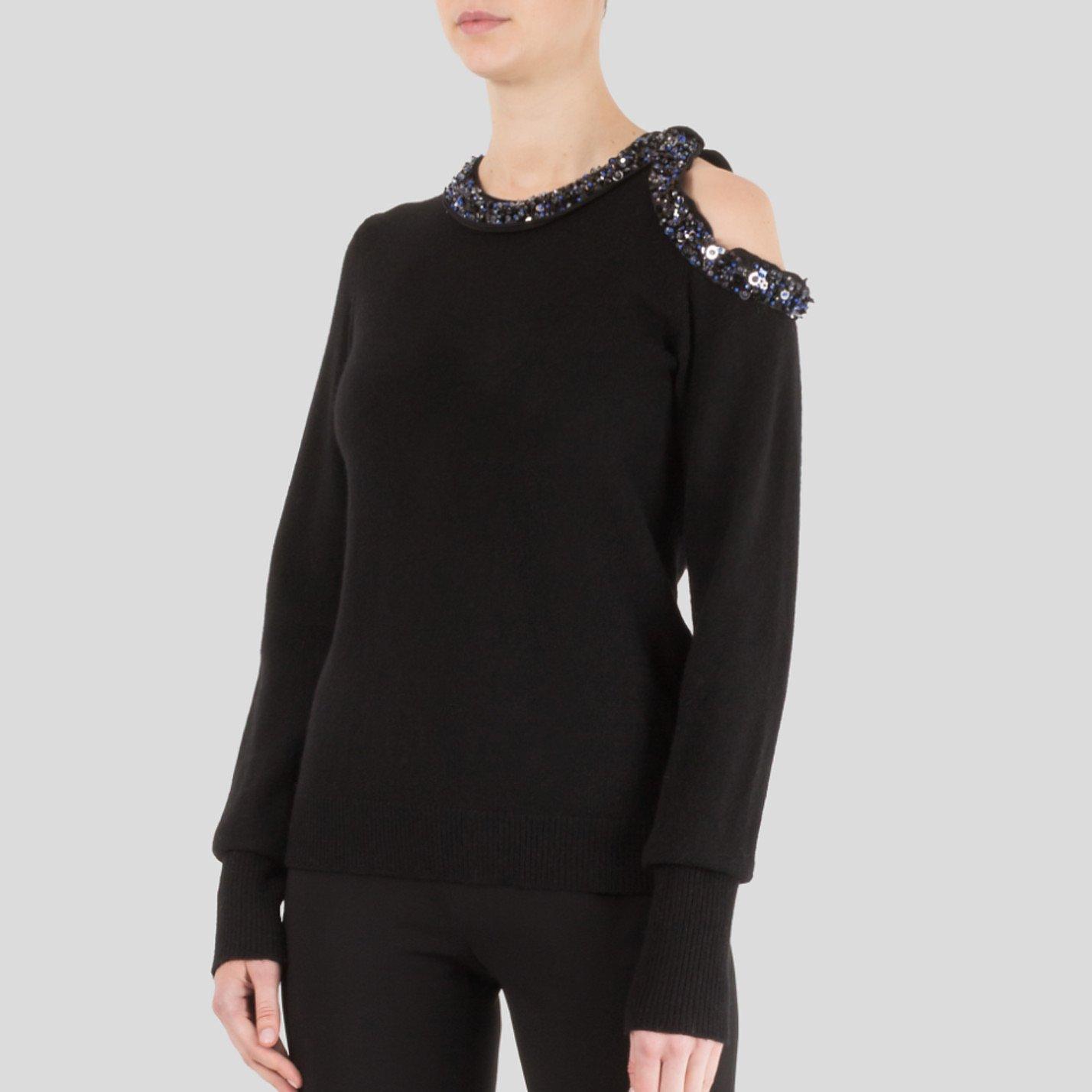 3.1 Phillip Lim Embellished Cold Shoulder Sweater