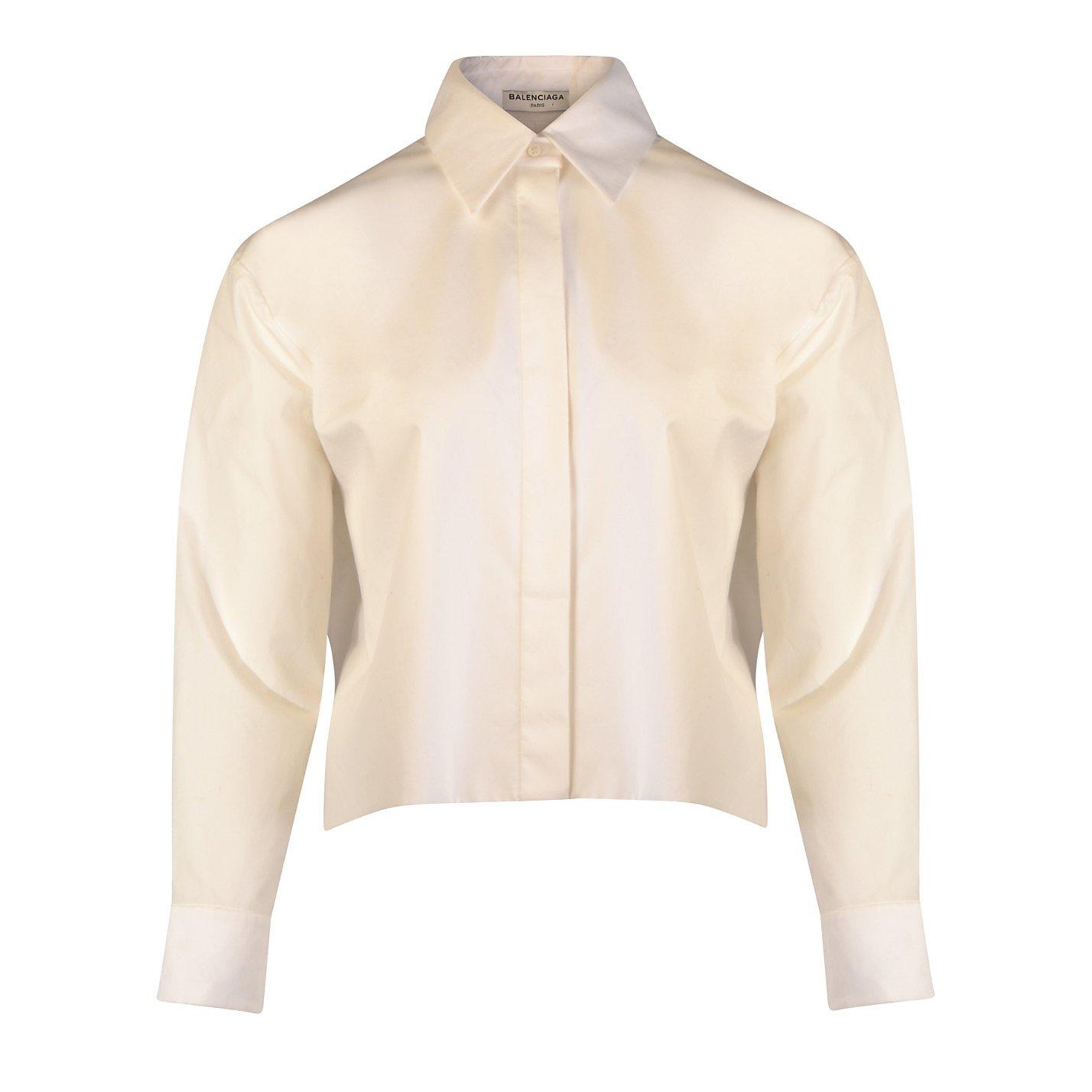 Balenciaga Cropped Belted Shirt