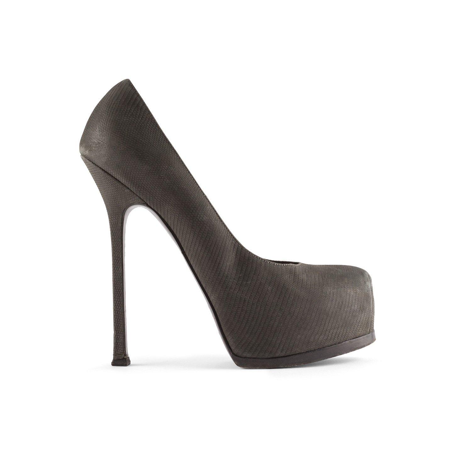 Saint Laurent Tribtoo Embossed Leather Heels