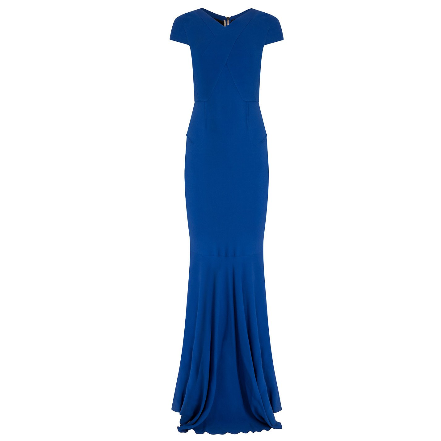 Roland Mouret Stretch-Crepe Gown