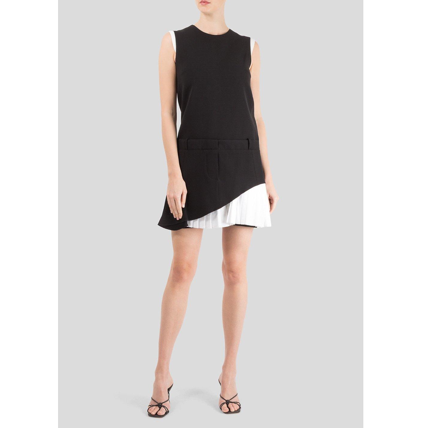 Victoria Beckham Pleated Skirt Mini Dress