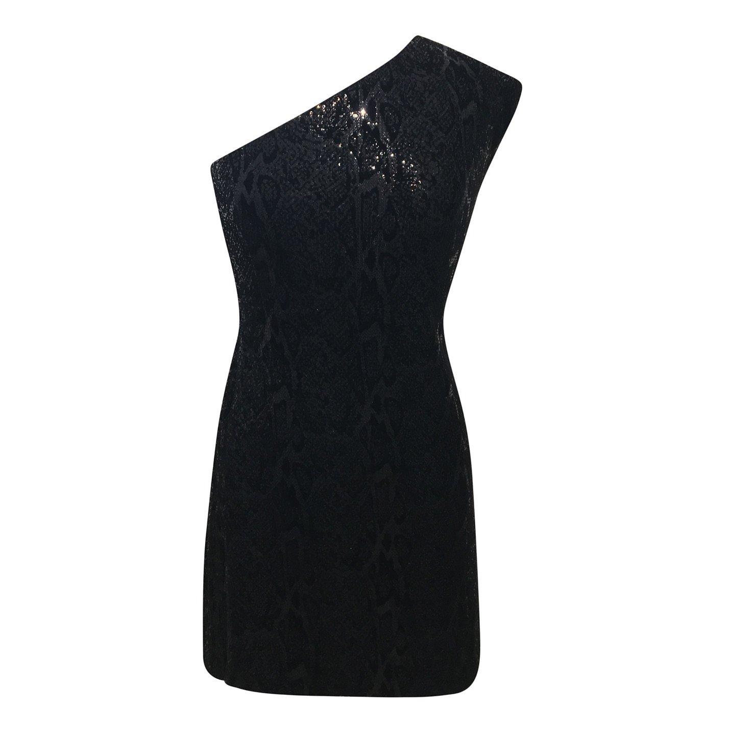 Halston Heritage One-Shoulder Sequin Dress