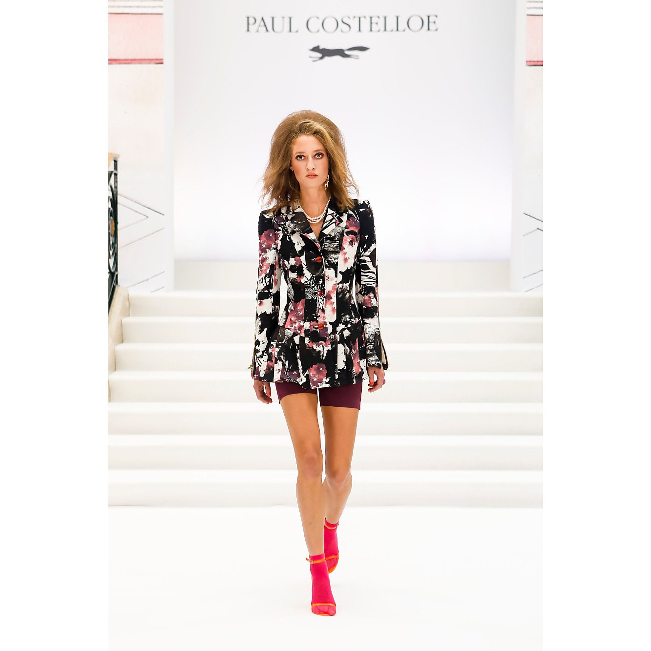 Paul Costelloe Pleated Fitted Jacket